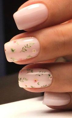 Neutral Nails, Nude Nails, Gel Nails, Nail Manicure, Faux Ongles Gel, Cute Nail Art Designs, Nail Designs Floral, Neutral Nail Designs, Short Nail Designs