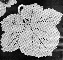 Maple Leaf Luncheon Set Crochet Pattern (filet? if not, could I graph it?)