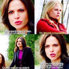 Your parents need a hero, not a murderer / Emma & Regina / 4.19