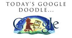 """The 200th birthday of poet Edward Lear! As the doodle suggests, he was the author of the poem """"The Owl and the Pussycat"""". Ah childhood memories…"""