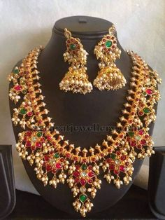 Rubies Highlighting Gotapusalu Set | Jewellery Designs