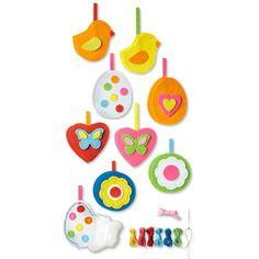 Kit pour fabriquer 8 décorations de pâques en feutrine -diy - activité enfants