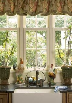 French Country Kitchen Window