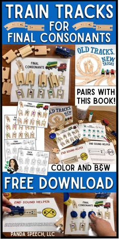 FREE download for final consonants! Speech Therapy!