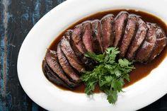 Marinade for Venison backstrap. Venison Marinade, Cooking Venison Steaks, Venison Recipes, Steak Marinades, Crock Pot Cooking, Cooking Recipes, Healthy Recipes, Cooking Turkey, Cooking Corn