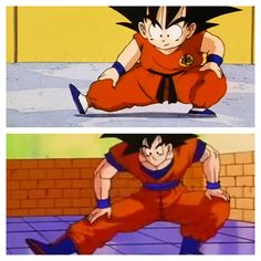 Some habits die hard. Introducing: The Goku Stretch. #QuotedBySonGokuKakarot