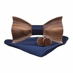 regalos de madera pajaritas Tie And Cufflink Set, Wooden Bow Tie, Thing 1, Tie Accessories, Tie Set, Pocket Square, Hair Jewelry, Handmade Crafts, Cufflinks