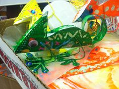 Supa cute chameleon craft Rainforest Crafts, Rainforest Project, Preschool Crafts, Preschool Classroom, Kid Crafts, Classroom Ideas, Fun Projects For Kids, Art Projects, Animal Crafts For Kids