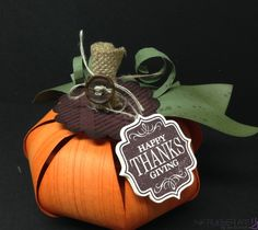 Pumpkin made with Stampin' Up! Gift Bow Die