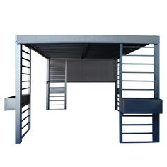 This pergola sun shelter has a square design with a modern style that complements the look of your outdoor furniture and backyard space. The galvaniz...
