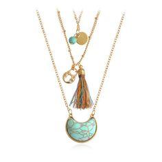 Tonga Moon Stone Tassel Necklace