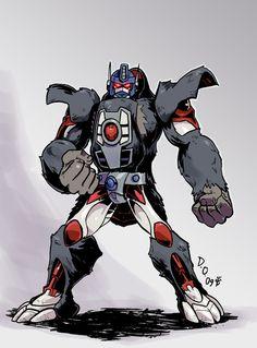 Optimus Primal from Transformers Beast Wars. Gi Joe, Beast Machines, Transformers Autobots, Super Hero Costumes, Cartoon Shows, Cultura Pop, Animation Film, Marvel, Optimus Prime