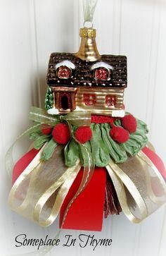 Cabin Christmas Tassel