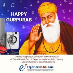 On this auspicious occasion of the birthday of Guru Nanak Dev Ji, wish to convey you all heartiest congratulations. Guru Purab, Guru Nanak Jayanti, Hearty Congratulations, Nanak Dev Ji, Trending Topics, Festive, Birthday, Happy, Birthdays