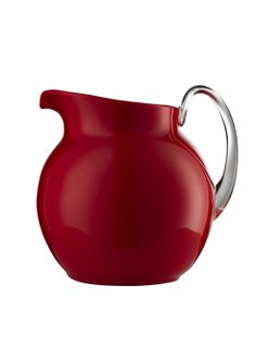 Made by Mario Luca Giusti. 685276500876 Part: Item: Mario Luca Giusti Palla Glazed Acrylic Pitcher Red Measures: inches tall x inches Made of the highest quality and clarit