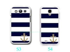 Glitter Anchor Stripe Samsung Galaxy S3 by TOPQUALITYHANDMADEA, $9.99