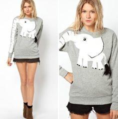 on sale!Elephant gray leisure T-shirt $19.00 http://sweetbox.storenvy.com/products/2063523-on-sale-elephant-gray-leisure-t-shirt