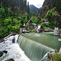 Kutton Water fall Kutton is almost 80km away from Muzaffarabad. There are many waterfalls in AJK but waterfalls in Neelum Valley are most famous and kutton Water fall is one of them. Waterfalls and water streams are the major attractions of Neelum Valley.