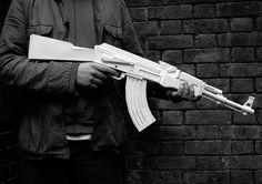 AK47 Paper craft model kit. Buy here http://www.amazon.com/Ak47-Paper-Gun-Model-Kit/dp/3899551982/ref=sr_1_1?s=books=UTF8=1333646740=1-1=svpply01-20 #gun #automatic #weapon