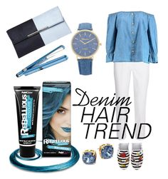 """""""Denim hair. Denim everywhere."""" by emilie-westrich-kavanagh-smith on Polyvore featuring Michael Kors, PaintGlow, BaByliss, Boohoo, Tory Burch, BP. and Dorothy Perkins"""