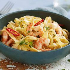 Scampi, Nom Nom, Spaghetti, Food And Drink, Ethnic Recipes, Diy, Pizza, Salads, Bricolage
