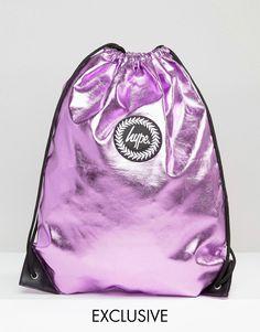 13c5e42aa7e4d Bild 1 von Hype – Exklusive Tasche in babyrosa Metallic Turnbeutel
