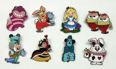 2014 Disney Alice In Wonderland Mystery Set of 8