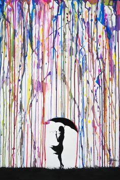 Trademark Fine Art 'Persephone' Canvas Art by Marc Allante, Black Contemporary Decorative Art, Modern Contemporary, Modern Design, Art Encadrée, Umbrella Painting, Umbrella Art, Painting Prints, Art Prints, Paintings