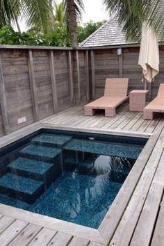 Small Inground Pool, Small Swimming Pools, Small Backyard Pools, Small Pools, Swimming Pools Backyard, Swimming Pool Designs, Small Patio, Pool Landscaping, Backyard Patio