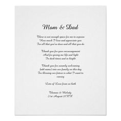 Poem Parents Bride Groom Wedding Thank You Gift Poster - tap to personalize and get yours #Poster #budget #wedding #poem #verse #custom Wedding Groom, Bride Groom, Wedding Thank You Gifts, Budget Wedding, Enough Is Enough, Mom And Dad, Favorite Quotes, Poems, Encouragement
