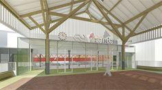 Entree nieuwe station Zaandam