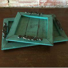 Decorative Distressed Wooden Trays - Amarillo