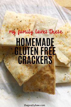 Gluten Free Kids Snacks, Dairy Free Snacks, Gluten Free Crackers, Gluten Free Recipes, Savory Snacks, Yummy Snacks, Snack Recipes, Kitchen Recipes, Cooking Recipes