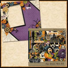 Scrapbooking TammyTags -- TT - Designer - Just So Scrappy, TT - Item - Quick Page, TT - Theme - Halloween