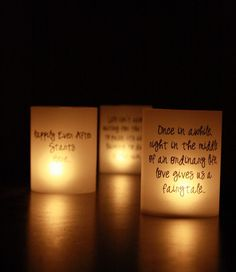 candles with love quotes
