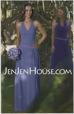 Making Your Own Bridesmaid Dress Halter V-Neck Chiffon Beading Floor Length As Picture Daffodil For Sale Wedding Party Dresses, Bridesmaid Dresses, Prom Dresses, Formal Dresses, Ruffle Beading, Beaded Chiffon, Special Occasion Dresses, Fashion Dresses, Floor