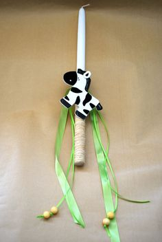 Baby Zebra Easter Candle Lampada Labada by LimaniDesigns on Etsy, $12.00