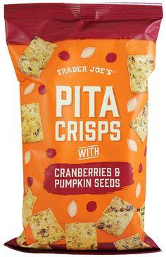 Pita Crisps with Cranberries and Pumpkin Seeds, 6 oz. $2.69
