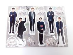 BEAST B2ST Standing Paper Doll Korean Pop Star KPOP K POP K-POP Paper Doll