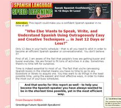 Learn Spanish in 12 days or Less