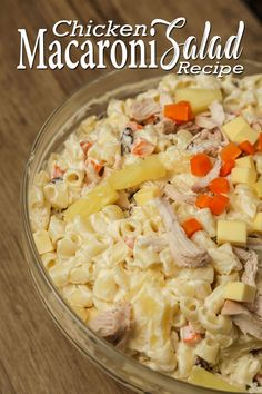 Chicken Macaroni Salad a Pinoy Style Christmas Recipes. Chicken Macaroni Salad or Macaroni Salad is a pasta salad, made with cooked elbow macaroni, prepared with mayonnaise, All purpose Cream, Raisins Carrots, Chicken and Cheese. Macaroni is usually served cold and During Christmas and Birthday Occassion of some Filipino. #chickenmacaronisalad #macaronisalad #christmasrecipes Chicken Macaroni Salad, Macaroni Pasta, Chicken Salad Recipes, Carbonara Recipe Pinoy, Easy Churros Recipe, Healthy Foods, Healthy Recipes, Desserts Menu, Cheese Recipes