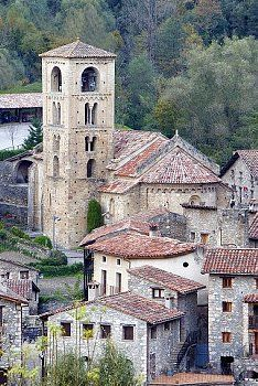 Romanesque church of Sant Cristofol s XII, Beget Garrotxa, Girona, Catalonia
