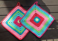Hildurs Barnbarn – Craft is life! Crochet Towel, Crochet Potholders, Diy Crochet, Project Free, Crochet Kitchen, Hot Pads, Baby Knitting, Pot Holders, Weaving