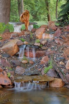 Gallery Of Back Yard Waterfalls | pond-pictures/Waterfalls/backyard-waterfall6