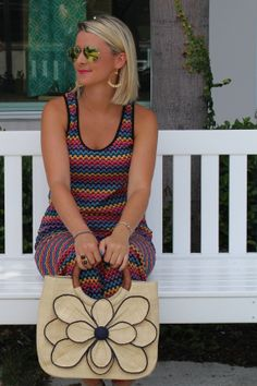 Love this look? Want 25% off? Go to www.shotgunsandseashells.com to learn more about Sassy Wednesdays! This week we are featuring Trina Turk, Tory Burch, Ray- Ban & More for 25% OFF! Fashion Blogger// Shotguns & Seashells // Sassy Boutique  in Vero Beach, FL