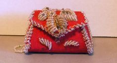 Iroquois Indian Vintage Beaded Whimsey Red Purse by peachiepockets, $65.00 Red Purses, Purses And Bags, Iroquois, Ancestry, Beadwork, Native American, Coin Purse, Indian, Beads
