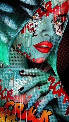 new ideas pop art sexy Kunst Portfolio, Photographie Art Corps, Natur Tattoos, Tableau Pop Art, Pop Art Wallpaper, Digital Art Girl, Dope Art, Pics Art, Graffiti Art