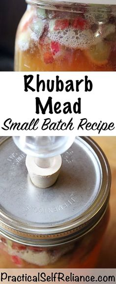 Spring Fermented Drink: Rhubarb Mead (Honey Wine) During the spring when rhubarb is in season, preserve it right on your homestead in a tasty fermented mead or honey wine! Rhubarb Wine, Rhubarb Rhubarb, Mead Wine, Honey Mead, Mead Recipe, Honey Wine, Wine Yeast, Homemade Liquor, Homemade Alcohol