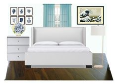 """""""guest bedroom"""" by purplicious ❤ liked on Polyvore featuring interior, interiors, interior design, home, home decor, interior decorating, John Lewis, Arteriors and bedroom"""