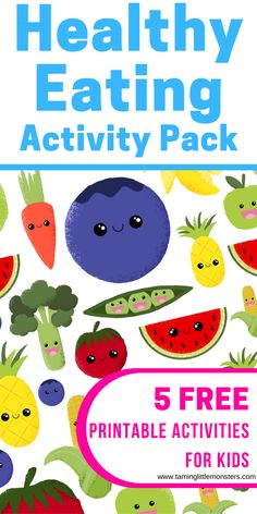 Get your copy of this FREE Healthy Eating Printable Activity Pack for Kids. Inside are 5 activities to teach kids about food groups, portion control, everyday vs sometimes food and more. Use these games to teach your toddlers and preschoolers about the kinds of food they need to grow into healthy and happy people. #freeprintable #healthyeating #nutrition #toddlers #preschool #homeschool Learning Activities, Activities For Kids, Food Groups, Portion Control, Happy People, Toddler Preschool, Fine Motor Skills, Pre School, Teaching Kids